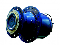 Wikov Integrated rotor shaft gear unit